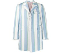 distressed striped blazer
