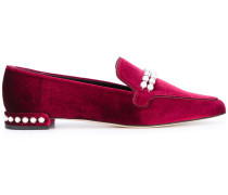 Loafer mit Perlen-Applikationen - women