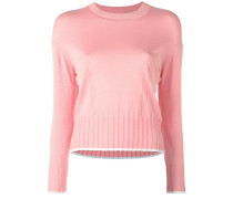 Pullover mit geripptem Saum