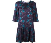Ausgestelltes Kleid mit Blatt-Print