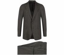 Einreihiger Anzug mit Karomuster