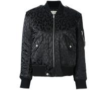 leopard print bomber jacket