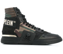 High-Top-Sneakers mit Camouflagemuster