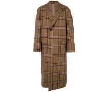 plaid print coat