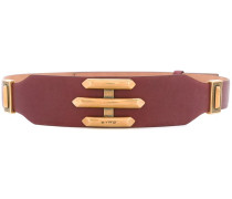 embossed logo waist belt