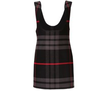 Karierte Kleid mit tiefem Ausschnitt