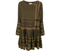 flared patterned dress