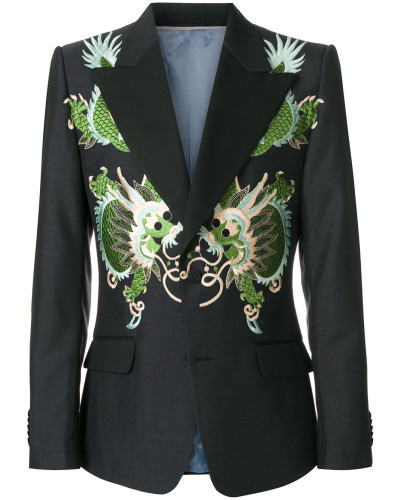 Heritage jacket with dragons