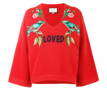 - Loved bird embroidered top - women - Wolle - M