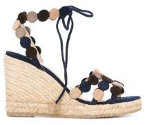 - Wedge-Sandalen mit Schleifenverschluss - women
