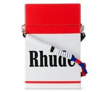 Schultertasche im Zigarettenschachtel-Design