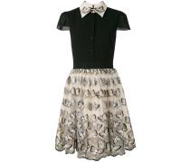 Kleid mit Schmetterlings-Stickerei - women