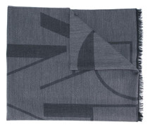 Wollschal mit Logo