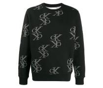 Sweatshirt mit Monogrammmuster
