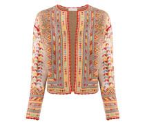 Jacke mit geometrischem Muster