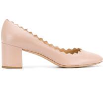 Lauren block heel pumps