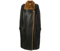 shearling cape sleeved gilet
