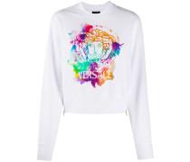'Medusa' Sweatshirt mit Batik-Print