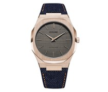 Western Denim Ultra Thin Armbanduhr, 40mm