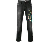 Bestickte Jeans - men - Baumwolle - 32
