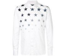 star fade collared shirt