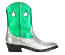 'Lila' Stiefel im MetallicLook