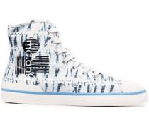 High-Top-Sneakers mit Batikmuster