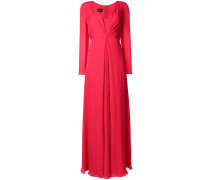 ruched long-sleeved dress