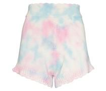 Karissa knitted tie-dye shorts