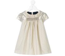 polka dot contrast sleeve dress
