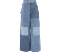 Jeans im Patchwork-Look