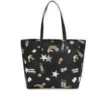shooting star patch shopper tote