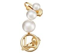 'F is ' Ohrclip mit Perlen