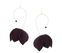 asymmetric flower earrings
