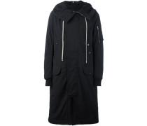 Langer Mantel mit Kapuze