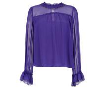 long sleeved silk top