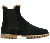 Chelsea-Boots Biberpelzfutter