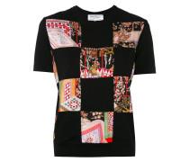 T-Shirt in Patchwork-Optik
