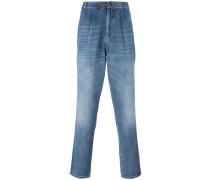 drawstring straight jeans