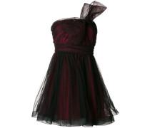 ruffled asymmetric bow dress