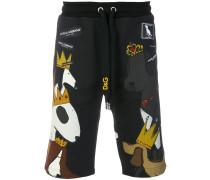 dog print shorts