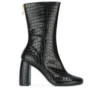 Stiefel mit Krokodilledereffekt