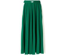panel pleated skirt