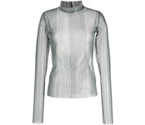 Semi-transparente Bluse mit Print