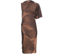 Midikleid mit Metallic-Finish