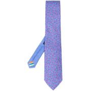 Krawatte mit Eidechsen-Print