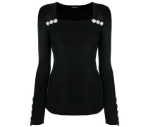 embossed button jumper