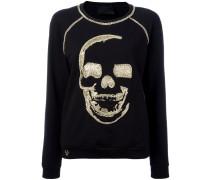Sweatshirt mit verziertem Totenkopf - women
