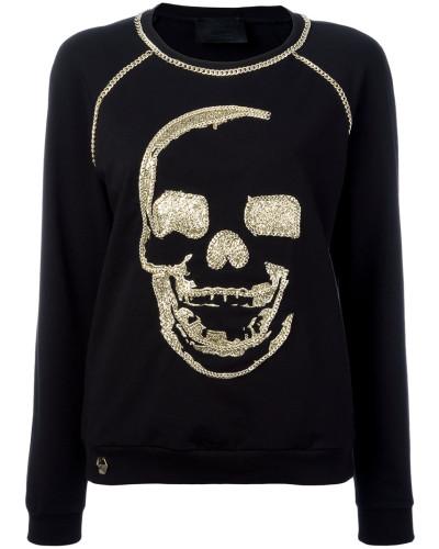 - Sweatshirt mit verziertem Totenkopf - women