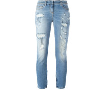 Cropped-Jeans in Distressed-Optik - women